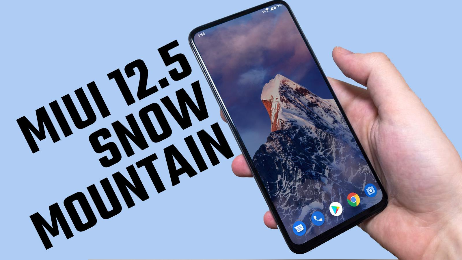 How to Install MIUI 12.5 Snow Mountain Super Wallpaper on Android Smartphone